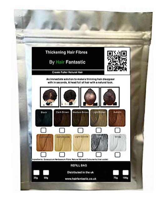 Value Keratin Hair Loss Concealing Fibers Refill Bag 100g